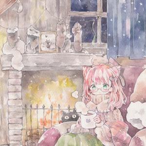 ポストカード「冬ごもり(2019)」