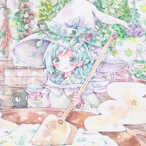 ポストカード「七草の魔女」