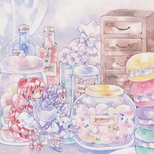キラキラポストカード「妖精の食糧庫」
