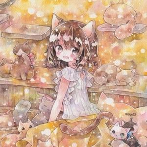 ポストカード「猫カフェに行きたい」