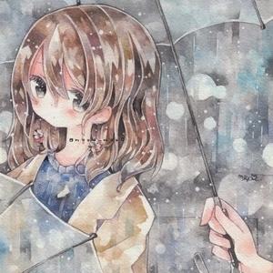 ポストカード「透明傘」
