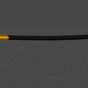 【オリジナル3Dモデル】共和国軍制式採用サーブル【△3419ポリゴン】