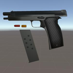 【3Dモデル】フランス軍制式採用拳銃 SACM 1935A風モデル【△3265ポリゴン】
