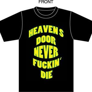 【ランダム缶バッジ付き】 HEAVEN`S DOOR救済支援オリジナルTシャツ【ブラック】