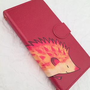 フクロウの手帳型スマホケース
