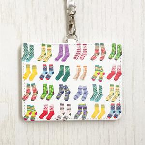 カラフル靴下のパスケースA