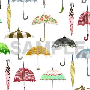 レトロな傘の手帳型スマホケースA