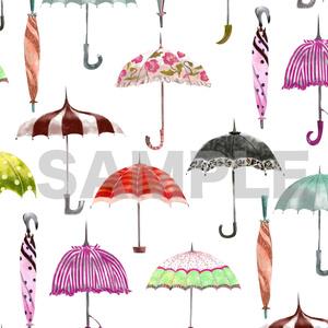 レトロな傘のスマホケースB