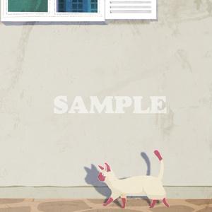 お散歩ネコの手帳型スマホケース