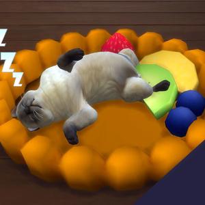 フルーツタルト型ペット用ベッド