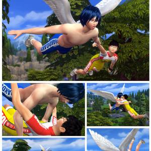 【空の翔び方】空中・高所ポーズ【Sims4】