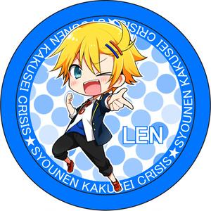 オリジナル×レン缶バッチ(ちびキャラVer.blue)