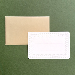 crescent イラストメッセージカード