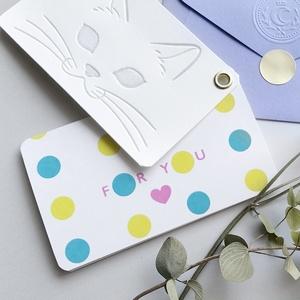 パチカ猫の2枚組メッセージカード