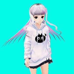 黒猫音符パーカー(VRoid用衣装)