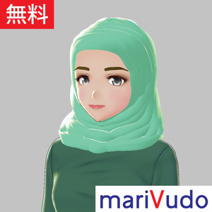 【無料!VRoid】ムスリム女性(ヒジャーブ)