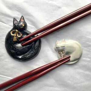 ねこ燭へし醤油皿&箸置きセット