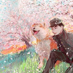 犬と男の子 イラスト集