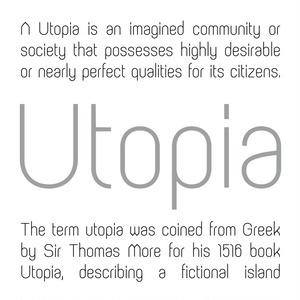「Utopia Light」欧文フォント