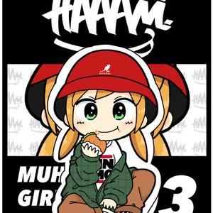 MUHA68 GIRLS STICKER 03