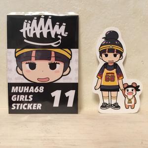 MUHA68 GIRLS STICKER 11