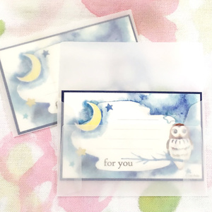 メッセージカード(ふくろう)