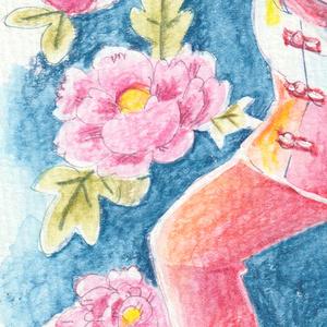 原画「シャボン玉使いの女の子」