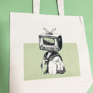 テレビ頭少女トートバッグ