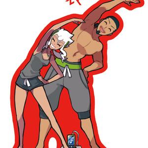 博士夫婦体操アクキー