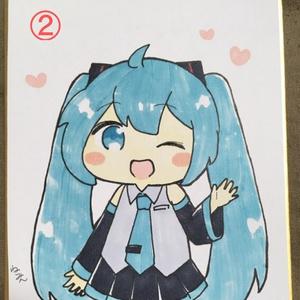 ねこみんの色紙1