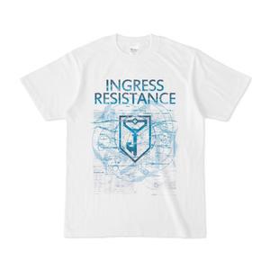 INGRESS レジスタンス 専用Tシャツ「Blue Circle Wave」