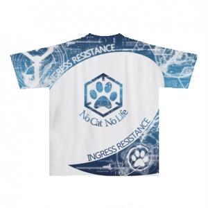 INGRESS レジスタンス 全面前後プリントTシャツ 「 RES CAT MK2 」完全受注生産 納期2週間