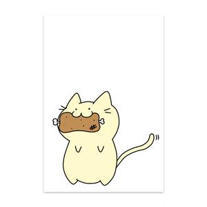 肉食系にゃんこポストカード