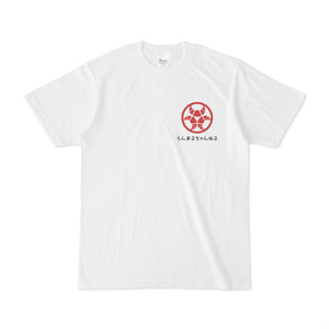 らんまるちゃん、家紋Tシャツ(赤)
