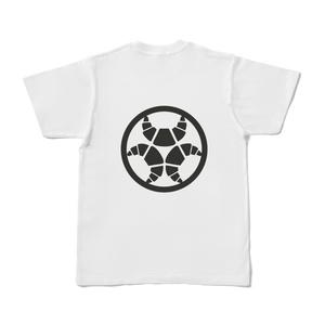 らんまるちゃん、家紋Tシャツ(黒)