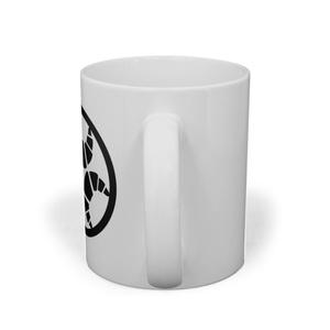 らんまるちゃん家紋マグカップ(黒)