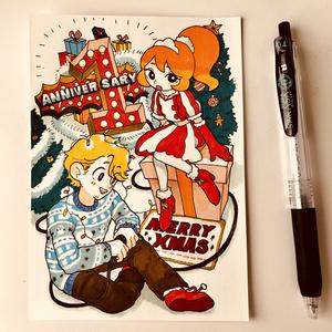 原画 1周年記念&クリスマス どっかのカフェの漫画