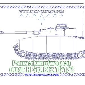 Ⅳ号H型中戦車(ドイツ中戦車)ステンレス製ドックタグ