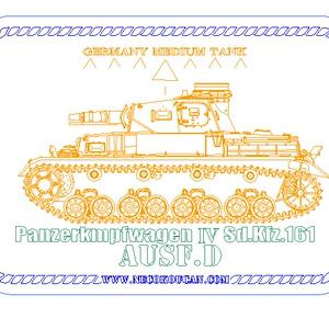 Ⅳ号D型中戦車(ドイツ中戦車)ステンレス製ドックタグ