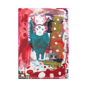 フクロウと猫のクリアファイル