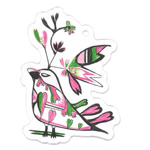 HEARTの鳥さんキーホルダー