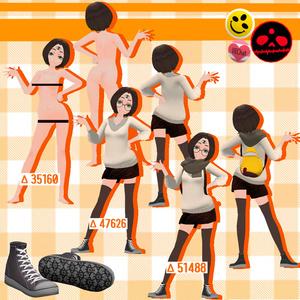 「三つ目ちゃん」 Ver1.2.1 オリジナル3Dモデル