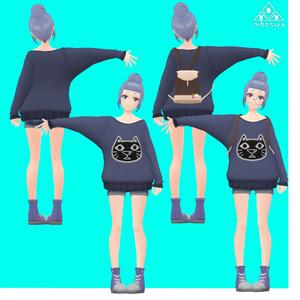 「OFFのカコさん」Ver1.1 オリジナル3Dモデル