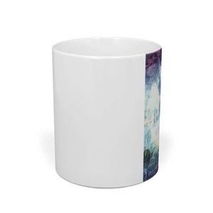絞り染め+青紫☆マグカップ