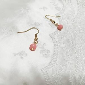フルフル揺れる天然ピンク珊瑚☆ピアス