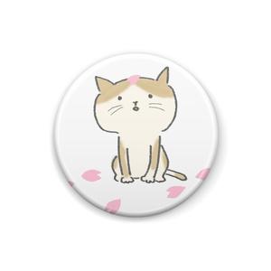 ひらひら桜とネコちゃんのブローチ