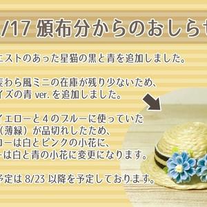 【発送予定9/2~】猫耳フェルト帽子&麦わら風帽子 2019夏ver.