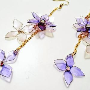 紫陽花の耳飾り