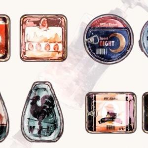 思い出の缶詰 アクリルキーホルダー