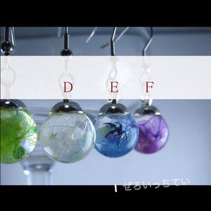 小さなガラスドームのハーバリウム【どろっぷ】